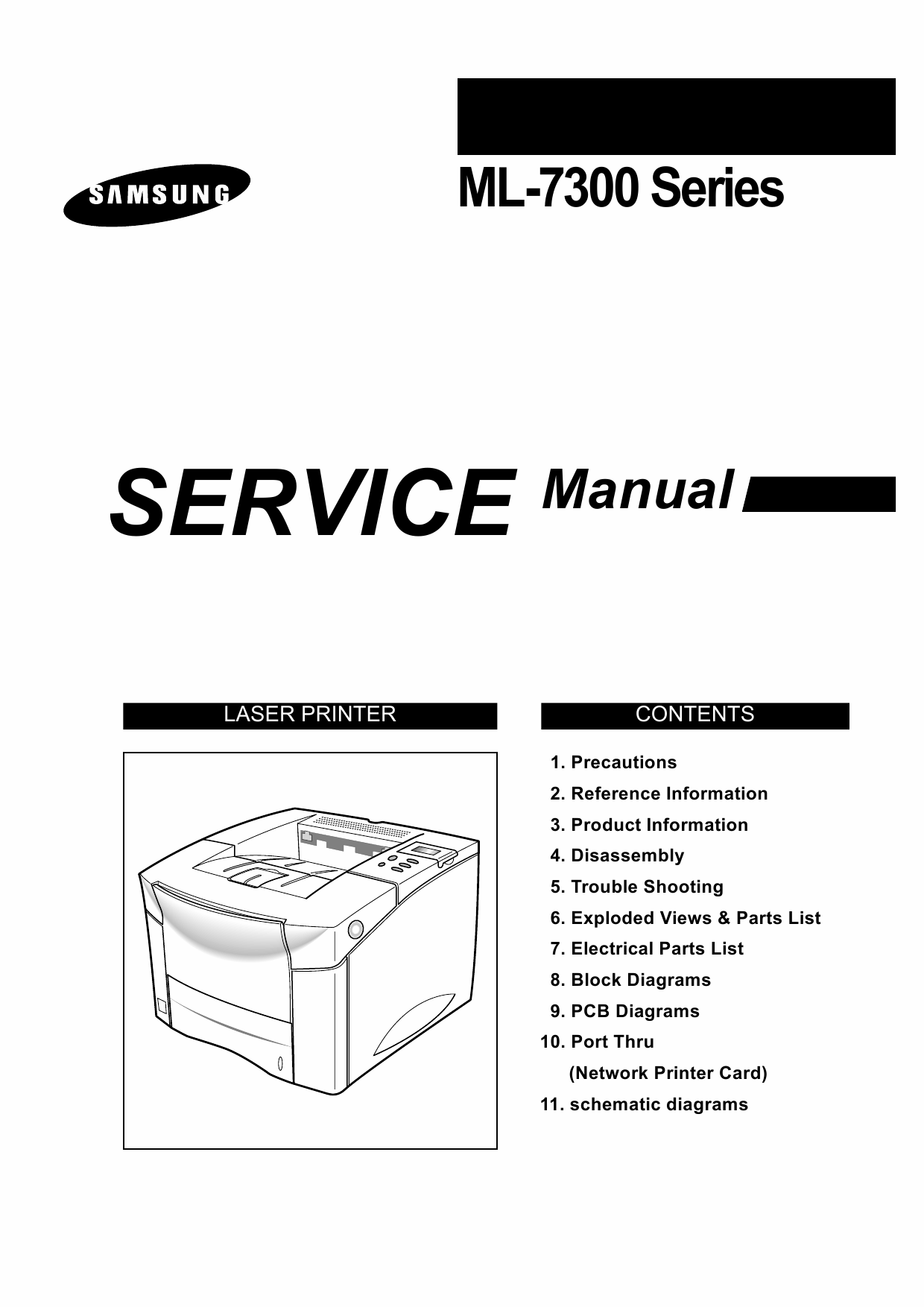 Samsung Laser Printer Ml Parts And Service Manual
